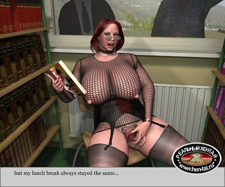 Model Nadia at the Library [eng] Uncen