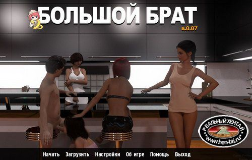 Большой брат / Big Brother [v0.09 Fix 10.1 Ren'Py Remake] (2019/RUS/ENG)