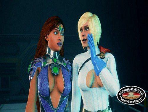 Power girl and Starfire Share