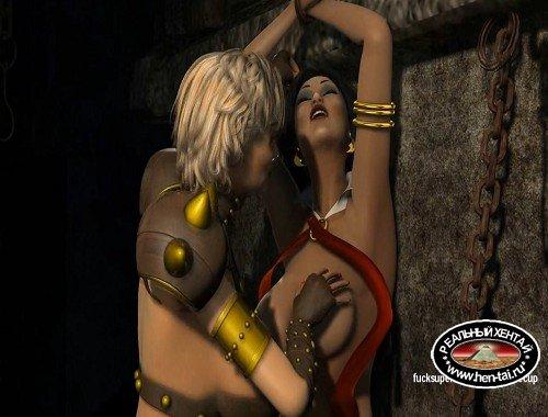 Vampirella gets naughty with the Big titty Mistress