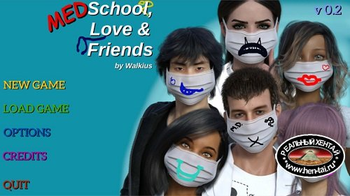 Medschool, Love and Friends [v.0.6] [2020/PC/ENG/RUS] Uncen