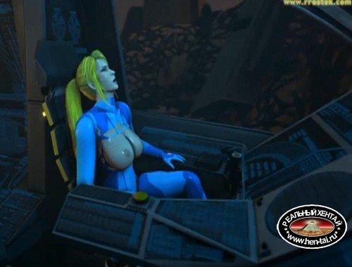 Samus Aran on a strange Alien Planet