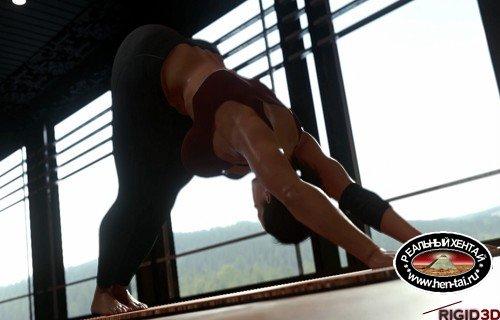 Jill Valentine Doing Yoga